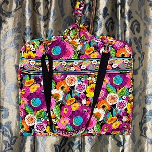 Vera Bradley Va Va Bloom Garment Bag, Like New